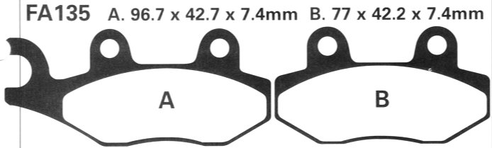 Ebc Brake Pads >> BB Bikeshop Ltd FA135 EBC Brake pads