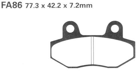 Ebc Brake Pads >> BB Bikeshop Ltd FA86 EBC Brake pads